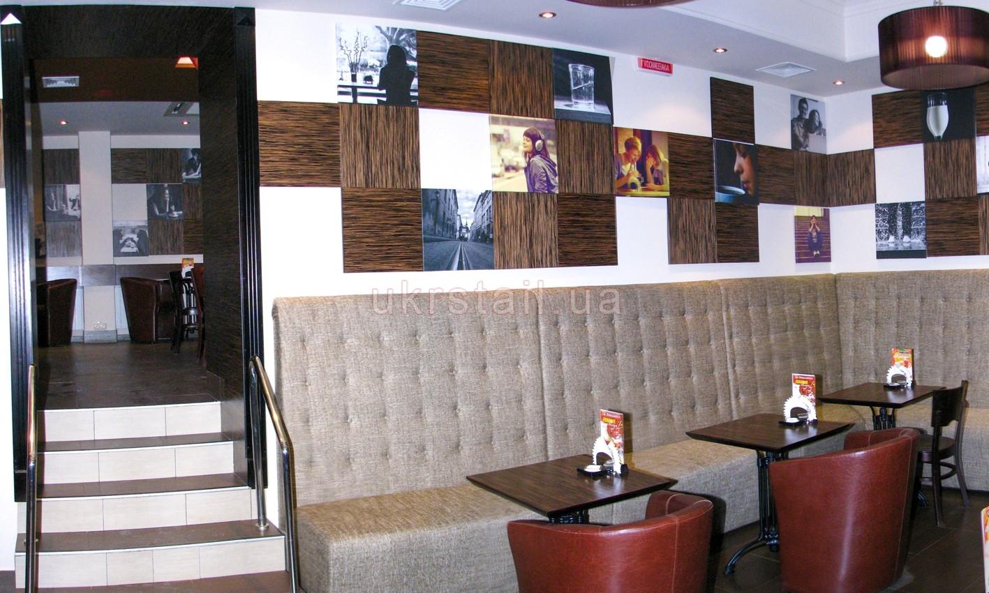 Стеновые панели кафе Шоколадница Киев 05