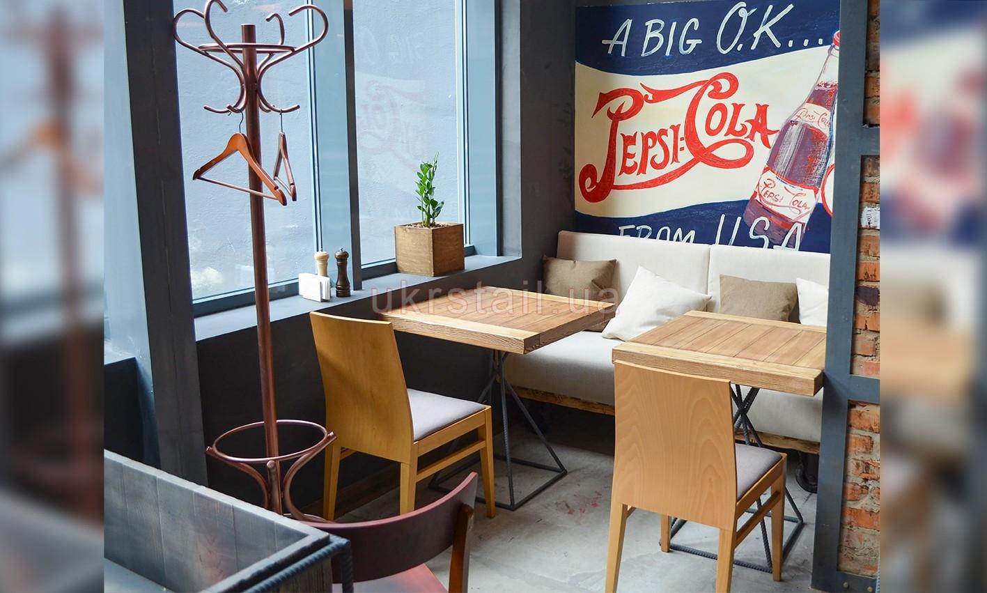 Мебель для ниши кафе Жадный Лось Киев 04