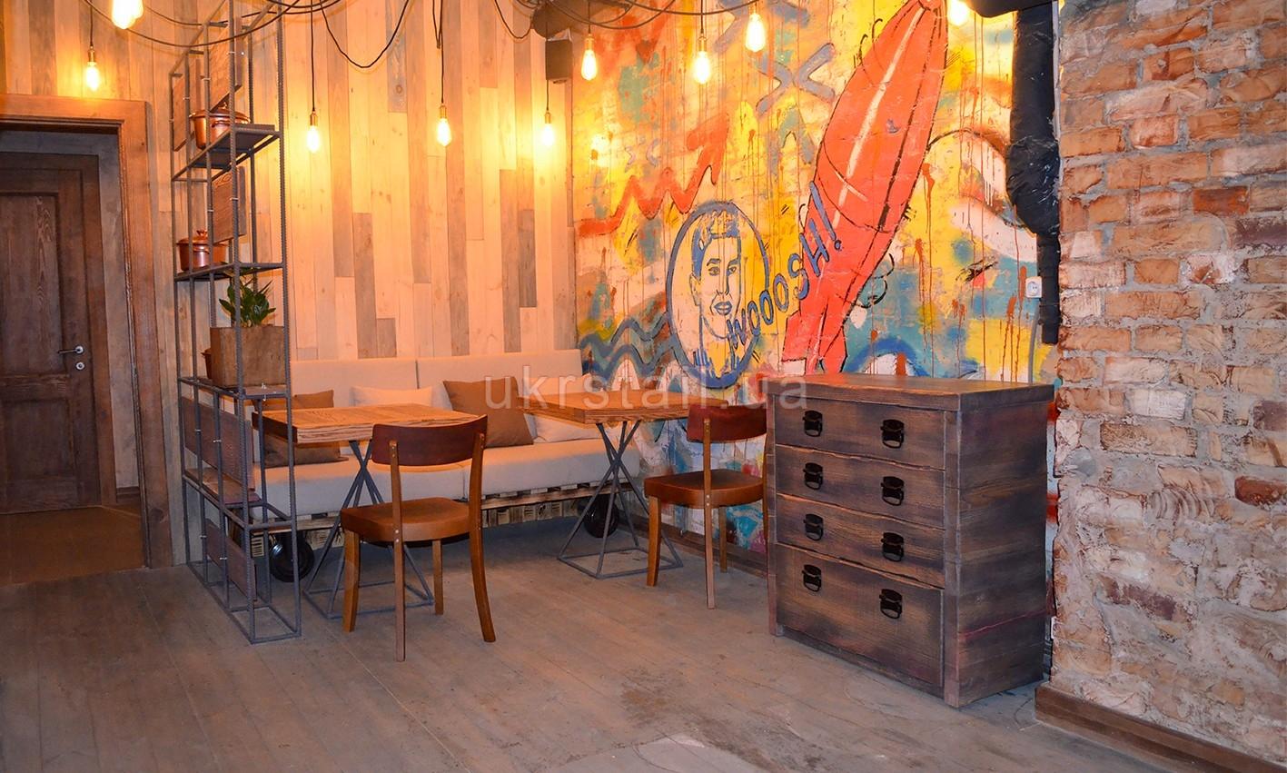 Мебель под заказ кафе Жадный Лось Киев 10