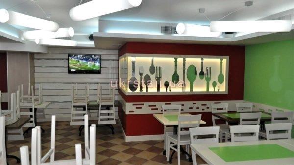 Декоративная стеновая панель для ресторана Оливье №01