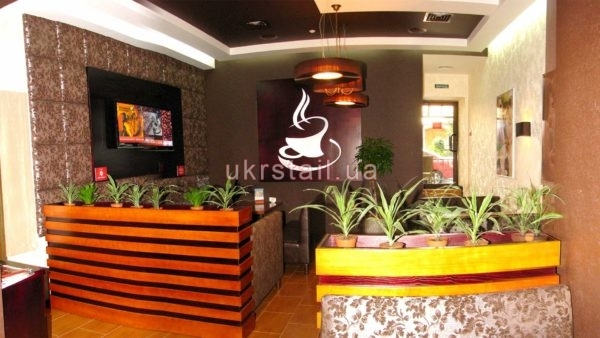Декоративная стеновая панель для ресторана Кофе Тайм №02