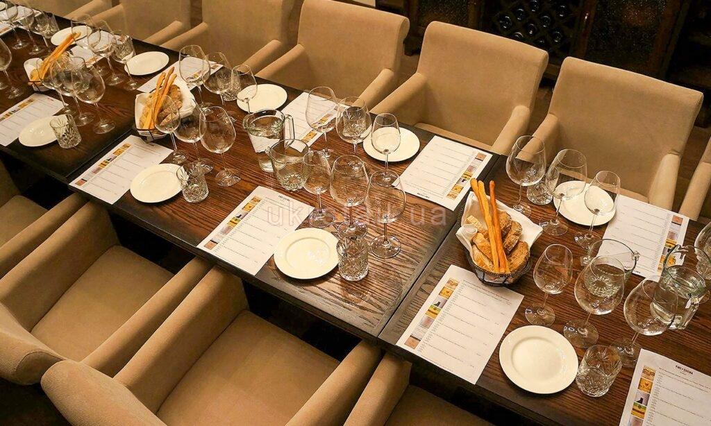Столешницы ресторана Vino e Cucina Киев 01