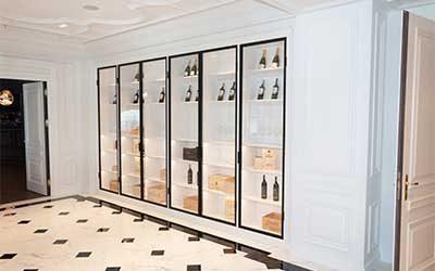 Винный шкаф для ресторанов - изготовление